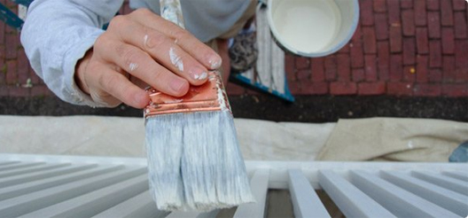 Exterior painting of a deck in Oakville and Burlington