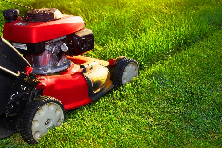 Always check whether the lawn mower blade is set at the right height to avoid scalping.