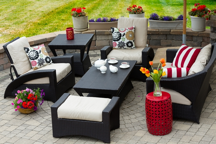 Adding functional furniture is one of the creative backyard ideas.