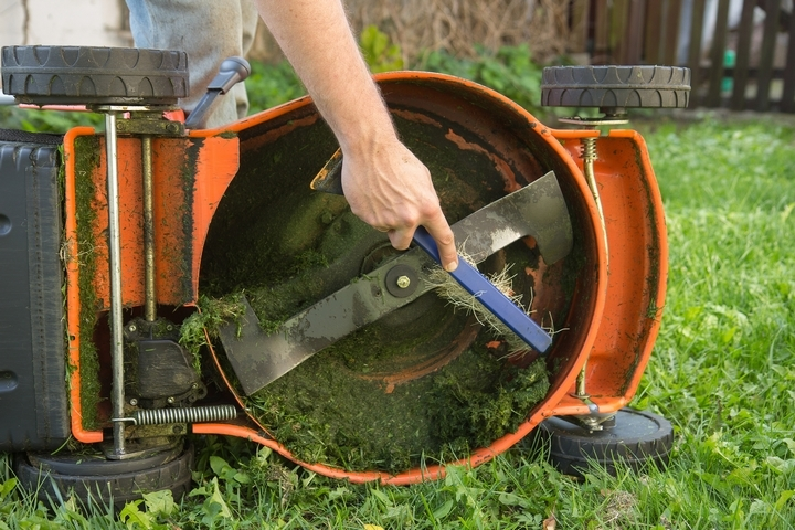 Lawn cutting with dull blades