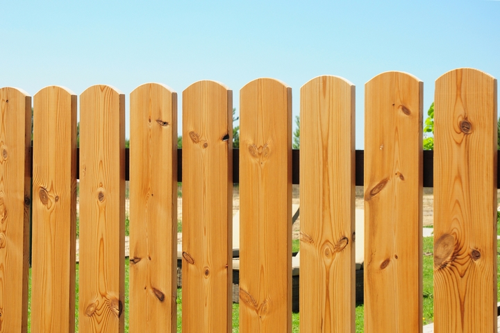 Let the stained fence rest.