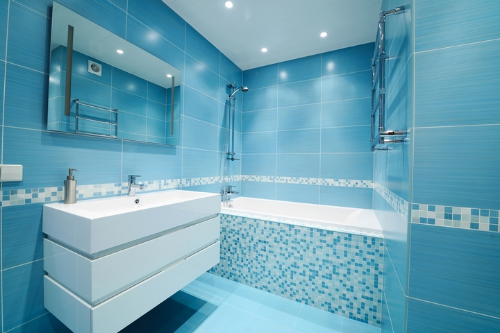 Paint your bathroom with lively colours.