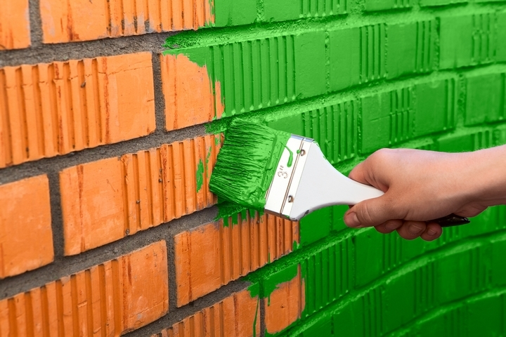 Use vibrant colours for exterior painting.