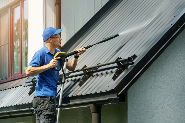 Clean the roof first before you clean the eavestroughs.