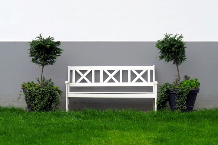 Adding symmtery is ideal for front yard landscaping.