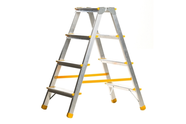 A ladder should be included in your house painting supplies list.