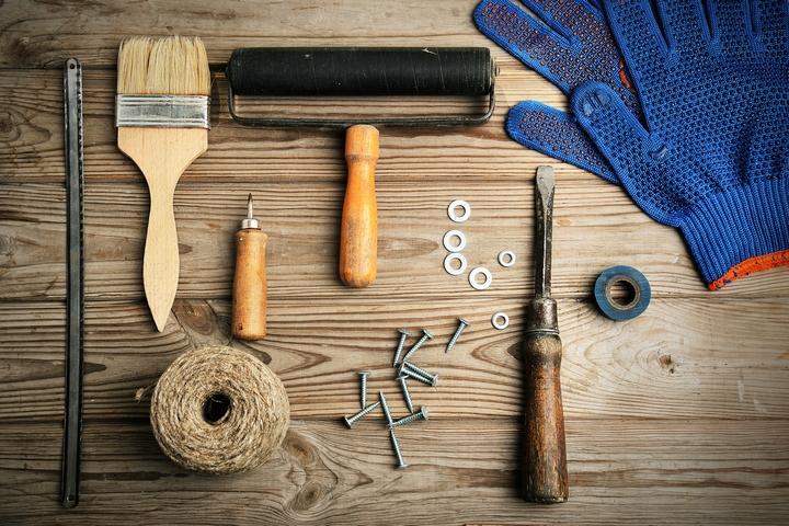 A multi-purpose painter's tool should be included in your house painting supplies list.