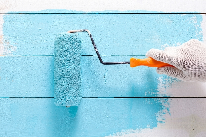 Paint rollers should be included in your house painting supplies list.